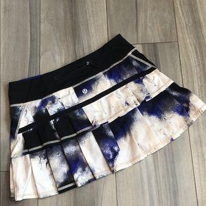 Lululemon Pace Setter Skort Skirt Milky Way Sz 4 R